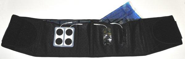 Relief Wrap Conductive Double Pocket Brace with Velcro Electrodes