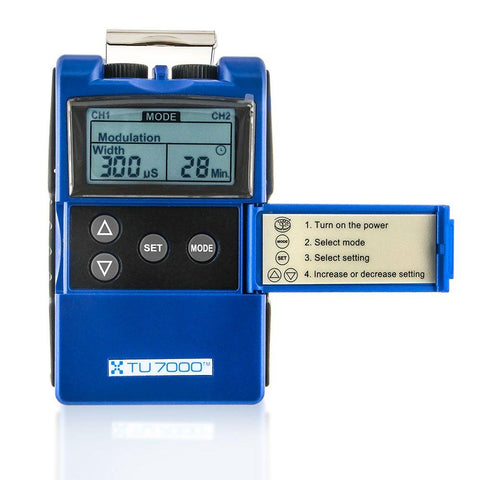 main therapy blue unit square monitor with screen