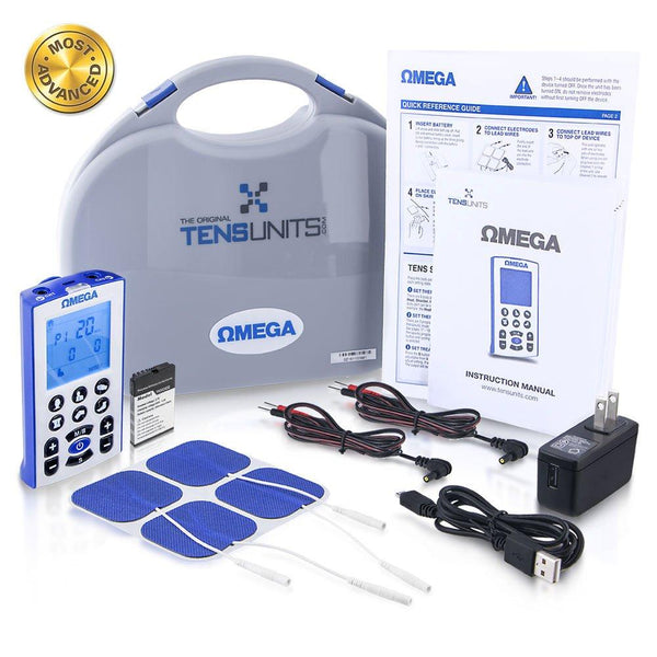 The Omega Professional Tens & EMS Combo Unit for Ultimate Pain Relief