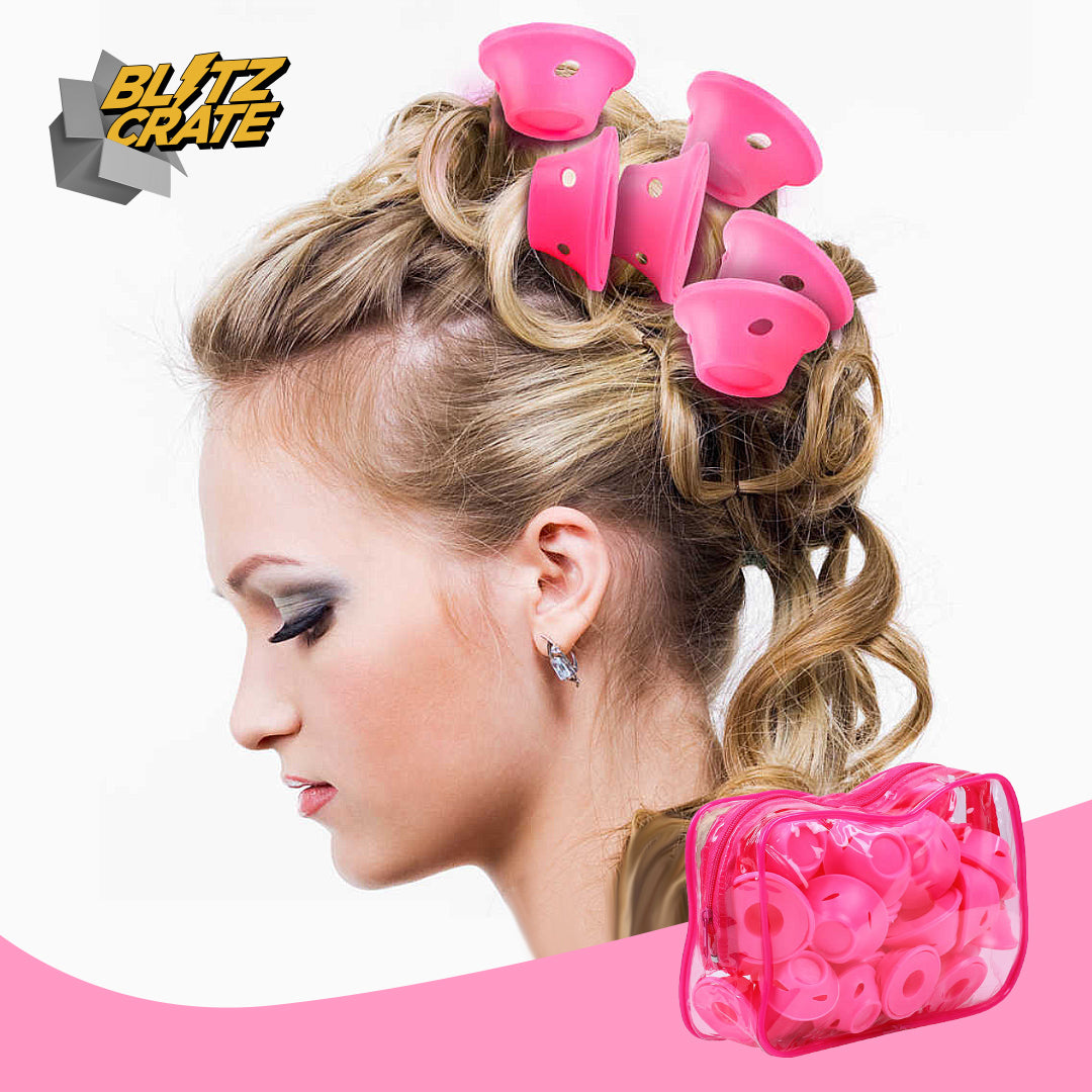 Heatless Silicone Hair Curlers