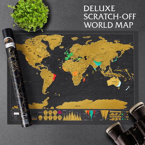 Deluxe Scratch-Off World Map