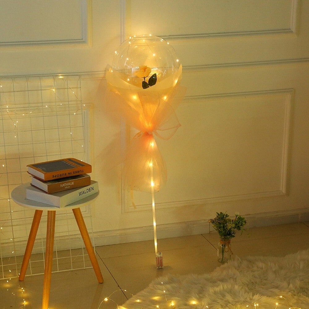 LED Rose Bouquet Balloon