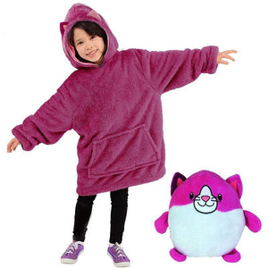 2-in-1 Comfy Stuff-Toy Hoodie