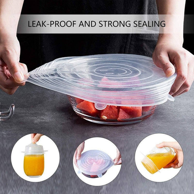Reusable Stretch Silicone Lids