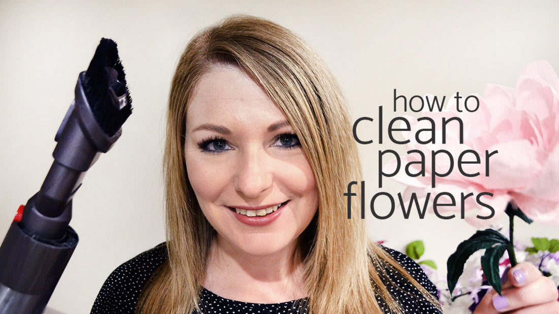how to clean paper flowers | crepe paper flower care