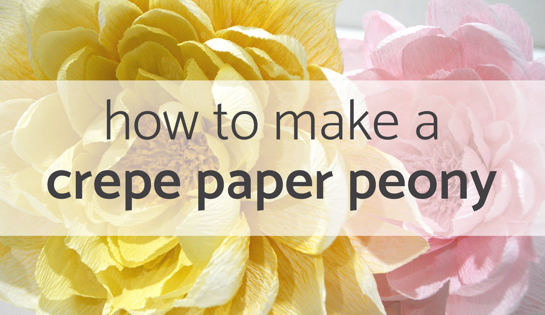 paper flower tutorial | crepe paper peony | paper peony tutorial | how to make paper flowers