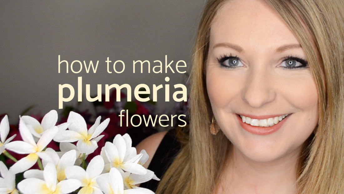 How To Make Paper Plumeria | Paper Flower Tutorials
