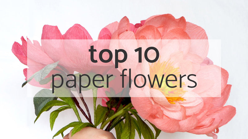 top 10 paper flowers | international paper flower day