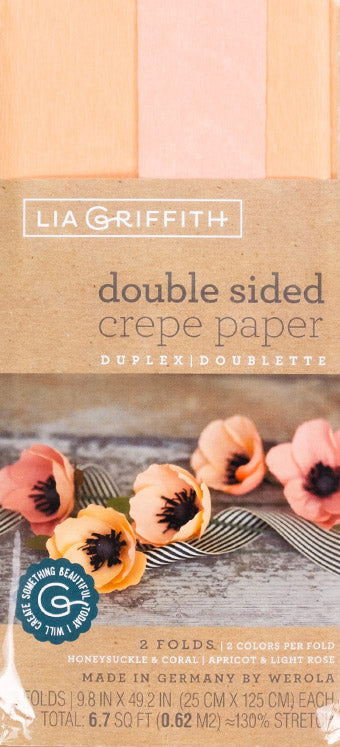 double sided crepe paper lia griffith coral apricot