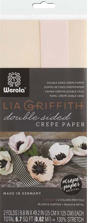 double sided crepe paper blush