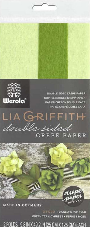 double sided crepe paper cypress