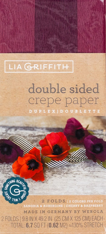 double sided crepe paper lia griffith sangria