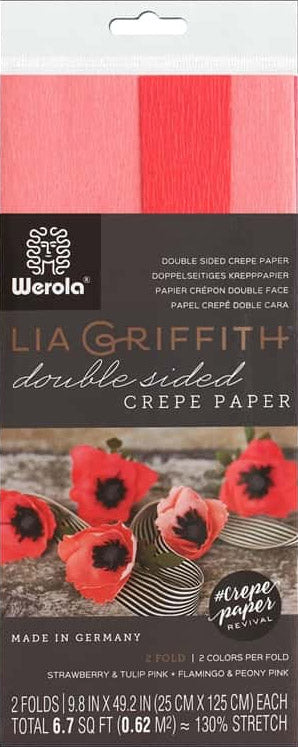 double sided crepe paper tulip