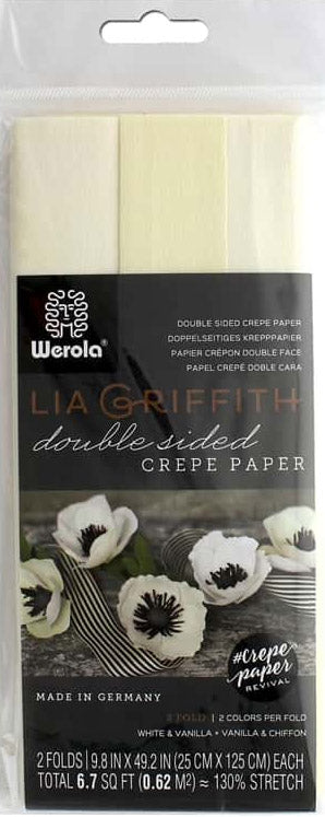 double sided crepe paper vanilla