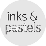 inks and pastels for paper flowers