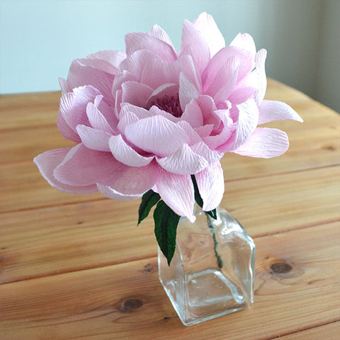 crepe paper peony | paper flower tutorial | how to make paper flowers