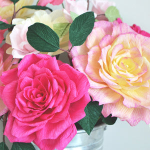 Paper Flowers | Paper Rose | Crepe Paper Flower | How to make Paper Flowers | Ta Muchly Paper Blooms