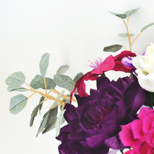 Paper Flowers | Paper Peony | Paper Rose | Crepe Paper Flower | How to make Paper Flowers | Ta Muchly Paper Blooms