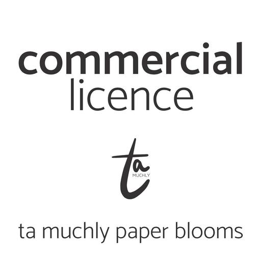 paper flower commercial licence