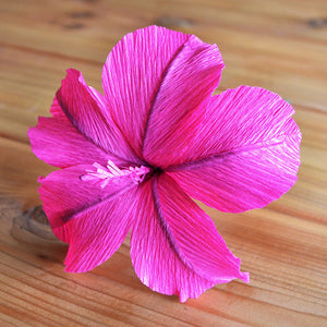 paper hibiscus template | crepe paper flower template | paper flower tutorials