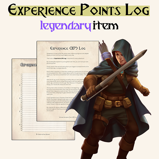 The experience points log