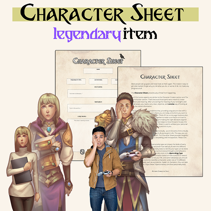 The Character sheet