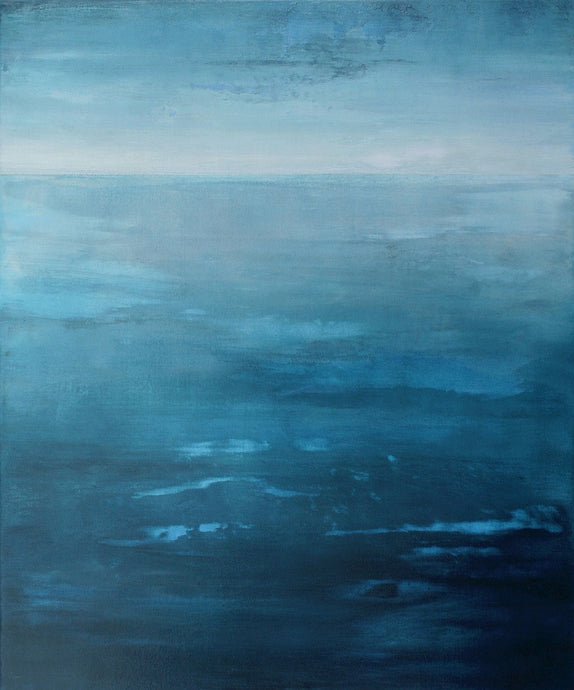 Blue Atlantic | Original Seascape Painting by Orfhlaith Egan | A Soft Day