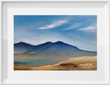 Load image into Gallery viewer, Blue Hills Original Acrylic Landscape Painting by Orfhlaith Egan | A Soft Day