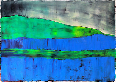 Painting | Dooras Peninsula Abstract Landscape by Orfhlaith Egan | A Soft Day