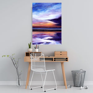 Evening Sun Original Painting 100x70cm Orfhlaith Egan Home Desk Wall