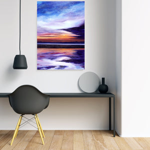 Evening Sun Original Painting 100x70cm Orfhlaith Egan Minimal Room Wall