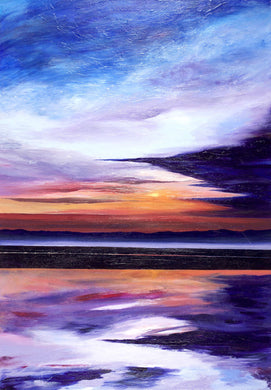 Evening Sun Original Painting 100x70cm Orfhlaith Egan