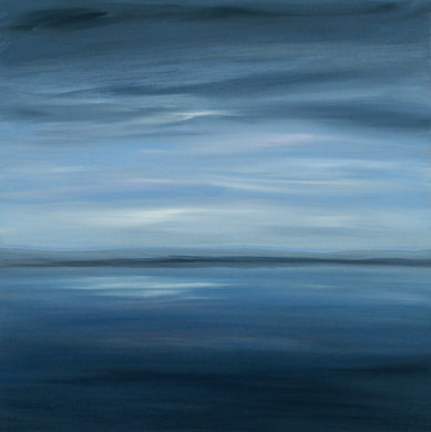 Fading Light 80x80cm Seascape Painting on Canvas, Original by Orfhlaith Egan | A Soft Day