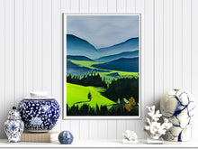 Load image into Gallery viewer, Green Valley Neon Collection Giclee Print by Orfhlaith Egan