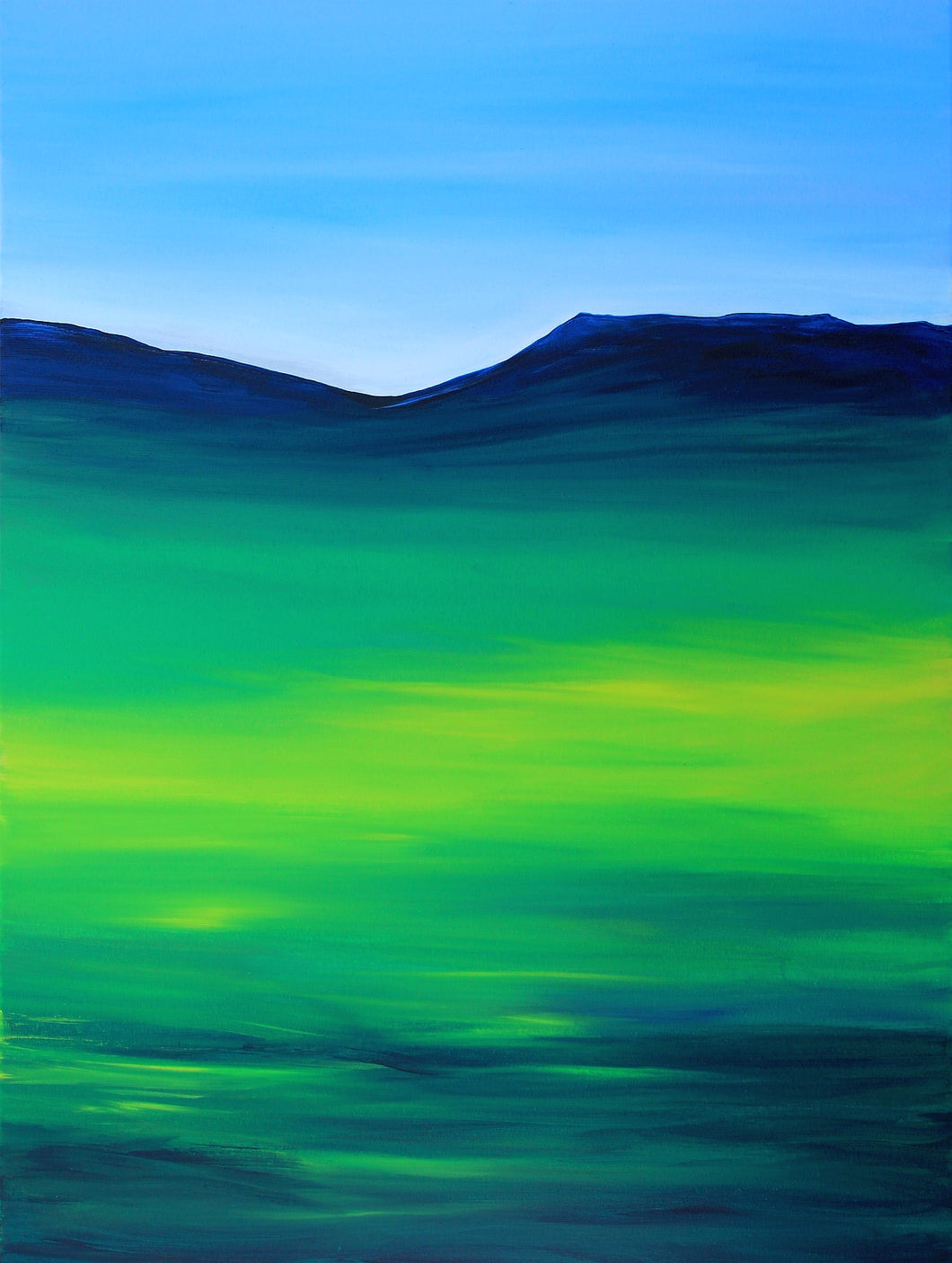 Greenblue View Original Painting on Canvas by Orfhlaith Egan | A Soft Day