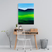 Load image into Gallery viewer, Greenblue View 80x60cm Neon Collection Original Painting Orfhlaith Egan Home Office View