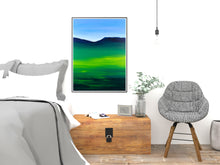 Load image into Gallery viewer, Greenblue View 80x60cm Neon Collection Original Painting Orfhlaith Egan Bedroom View