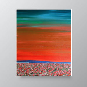Painting Collage | In Bloom Landscape by Orfhlaith Egan | A Soft Day | Home Interior Wall Art