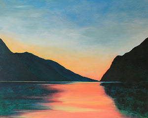 Lake Garda | Original Landscape Painting by Orfhlaith Egan | A Soft Day