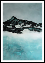 Load image into Gallery viewer, Painting | Lake in Winter by Orfhlaith Egan | A Soft Day | Framed