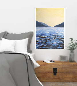 Lough Corrib South Lake | Giclée Print 70x50cm by Orfhlaith Egan | A Soft Day