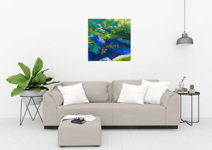 Morrigan's Forest Original Painting Living Room View