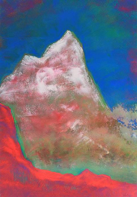 Painting | Alpine Pink Matterhorn by Orfhlaith Egan | A Soft Day