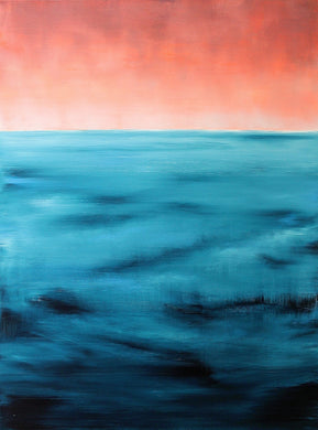 Open Sea Coral Sky | Original Seascape Painting by Orfhlaith Egan | A Soft Day