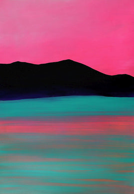 Pink Ripple Original Landscape Painting by Orfhlaith Egan | A Soft Day
