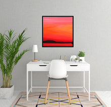 Load image into Gallery viewer, Red Sunset 60x60cm Painting on Canvas by Orfhlaith Egan | A Soft Day