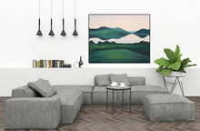 Load image into Gallery viewer, The South Lake - Doon | Cornamona Connemara Landscape Painting | A Soft Day