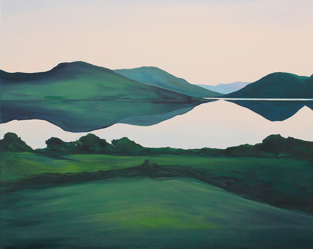 The South Lake - Doon | Cornamona Connemara Landscape Painting | A Soft Day