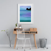 Load image into Gallery viewer, Violet Blues Original Seascape Painting on Paper