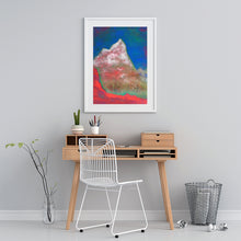 Load image into Gallery viewer, Painting | Alpine Pink Matterhorn by Orfhlaith Egan | A Soft Day | Desk Home Interior